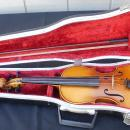 Vintage Stradivarius copy Student Violin with case and Bow 3/4 Anton Becker