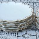 Haviland Limoges White with Double Gold (14) Plates 1900's
