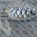 9) Vintage Antique Pinecones Elfs, Snowman, Gnomes, Pixies, Silver Ornament