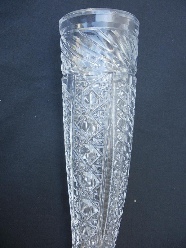 Antique Victorian Rare Auto,Car, Cut Crystal Flower Vase or Bud Vase 16
