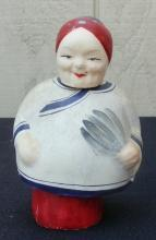 Vintage Old Paper Mache Chinese lady Noddle 7