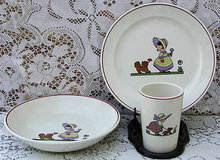 Mettlach Villeroy / Boch Child/Baby Dish Set