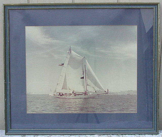 Large Real Photo Sail Boat Race S. F. Bay