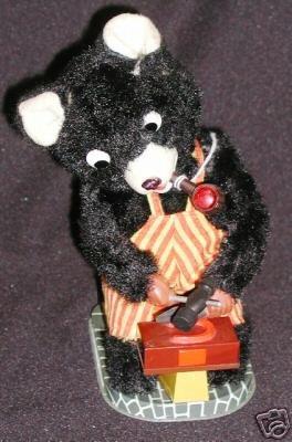 "Vintage Battery Op Teddy ""Smithy"" Works"