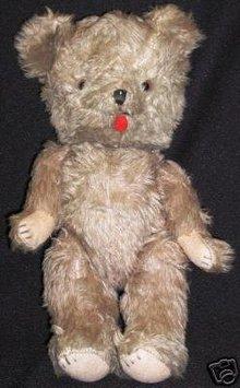 Vintage Steiff Style Mohair Teddy Bear
