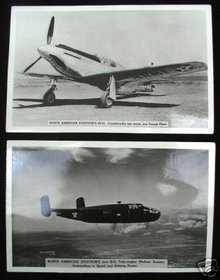 Two North American Aviation's RPPC Real Post Cards
