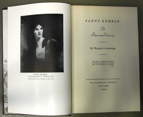Fanny Kemble, Margaret Armstrong