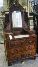 1880's Walnut Victorian Marble top Dresser