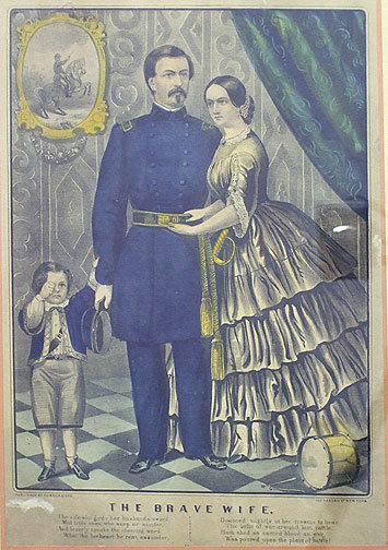 Currier & Ives-The Brave Wife  Print Civil War