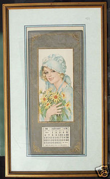 Framed 1918 Calendar Wendell Phillips