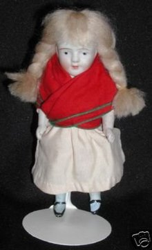 Antique All Bisque German Doll - 7