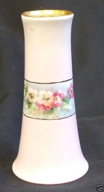 Victorian Hatpin Holder Handpainted Flowers & Gold