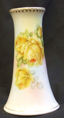 Victorian Hatpin Holder Handpainted Flowers Germany