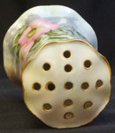 Victorian Hatpin Holder Handpainted Pink Flowers RS