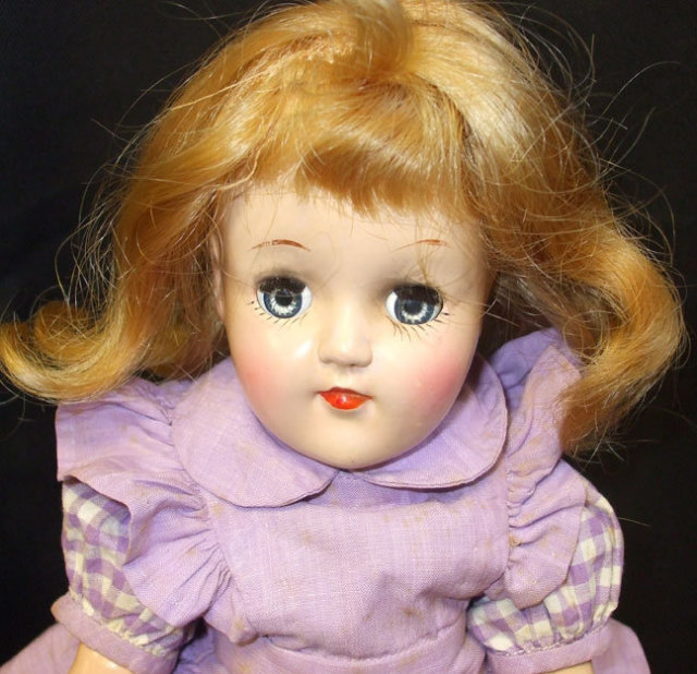 Vintage Ideal Toni Doll Hard Plastic 1950s 15