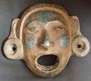 Vintage Mexican, Aztec, Mayan, Heavy Mask