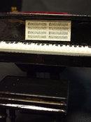 Black Dollhouse Baby Grand Piano w/Bench Music Box