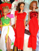 Vintage Lg. Collection Barbie Dolls Clothes, Shoes,Case