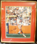 Joe Montana SF 49er Autograph Framed 23 x 27 Photo