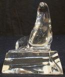 BACCARAT Crystal Seal or Sea Lion Figurine-MINT