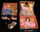 4 Madame Alexander Dolls,1960's Boxes orignial cloths
