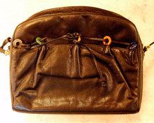 JUDITH LEIBER Black LEATHER Handbag Purse