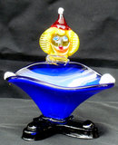 Vintage Murano Glass Clown with Blue Bowl