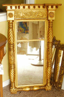Antique Federal Period Gold Guilded Mirror