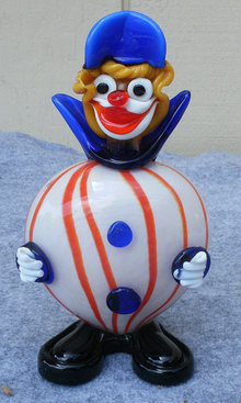 Beautiful Mid Century Murano Art Glass Clown Figurine