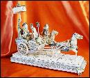 Antique Ivory Carvings - Emperor and Empress with Escorts in Horse Drawn Carriages