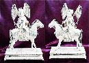 Antique Ivory Carvings - Emperor and Empress on Horseback