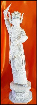 Antique Ivory Carving - Warrior Princess