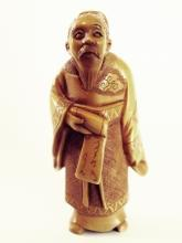 Antique Ivory Netsuke - A WISE MAN