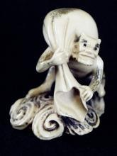 Antique Ivory Netsuke - Only an Oni
