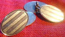 14K Gold Art Art Deco Cuff Links