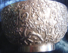 Exquisite China Trade Silver Bowl