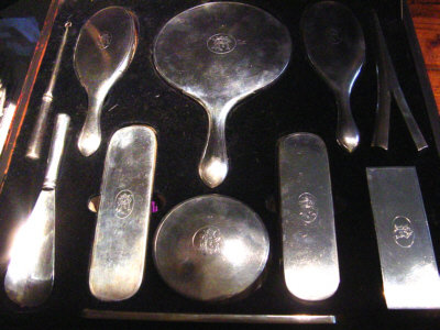 Massive China Trade Silver Dressing Service