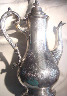Majestic Scottish Silver Teapot