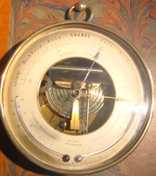 Antique French Barometer/Thermometer