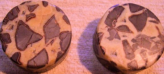 Two Elegant Plinths of Septarian Nodule