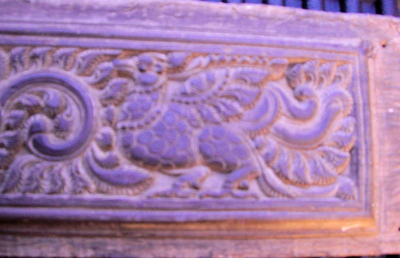 Carved Rosewood Temple Panels - Garuda