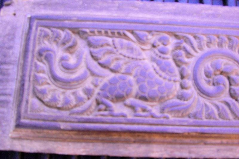 Three Superb Indian Carved Panels - Garuda