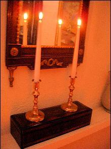 Fine Quality William IV Bell-metal Candlesticks