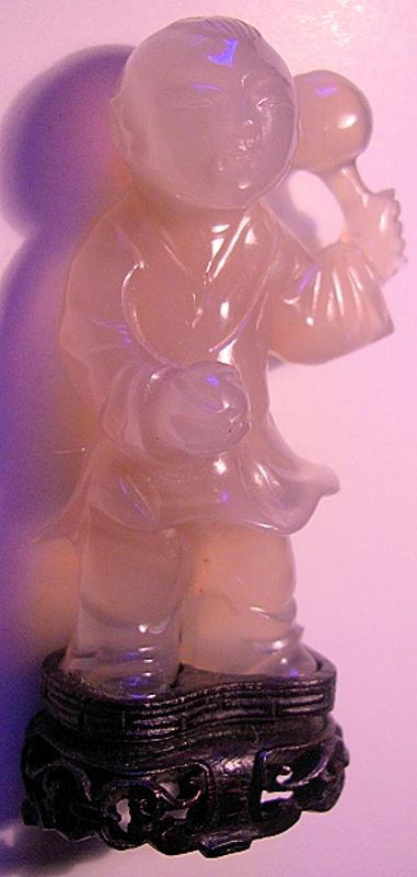 Chinese Carved Agate of a Boy-child