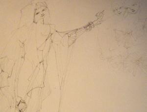 Leonor Fini Drawing