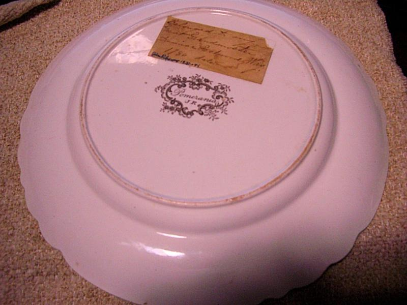Brown-Transfer Staffordshire Plate -