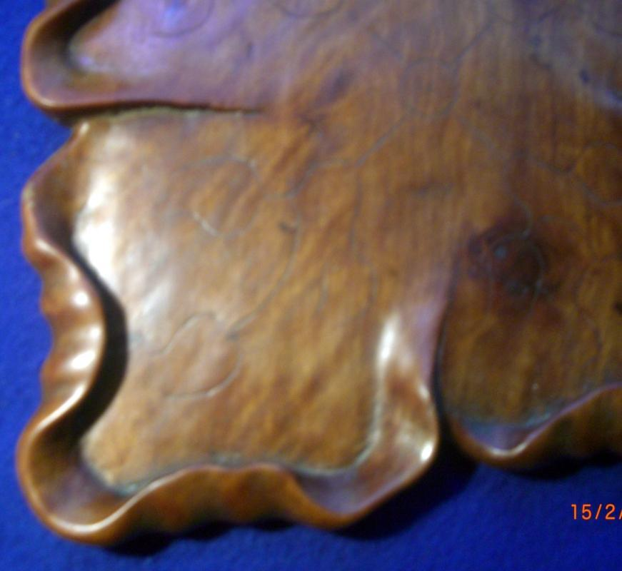 Chinese Huang Hua Li Lotus Leaf Tray
