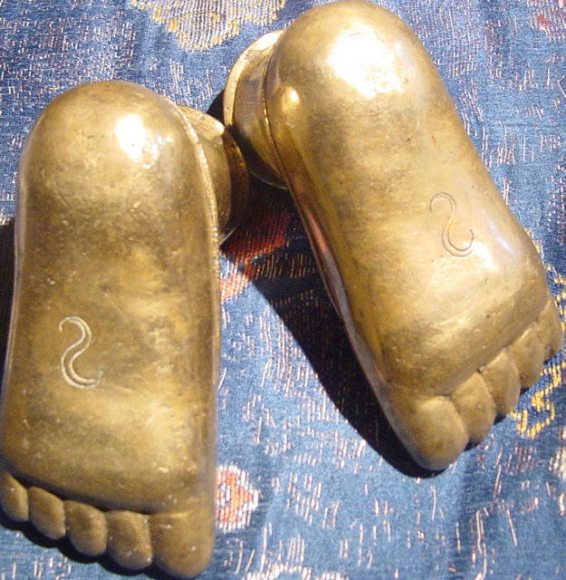 18th-19th Century Indian Brass Feet