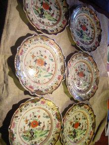 Six Early Mason's Ironstone Plates