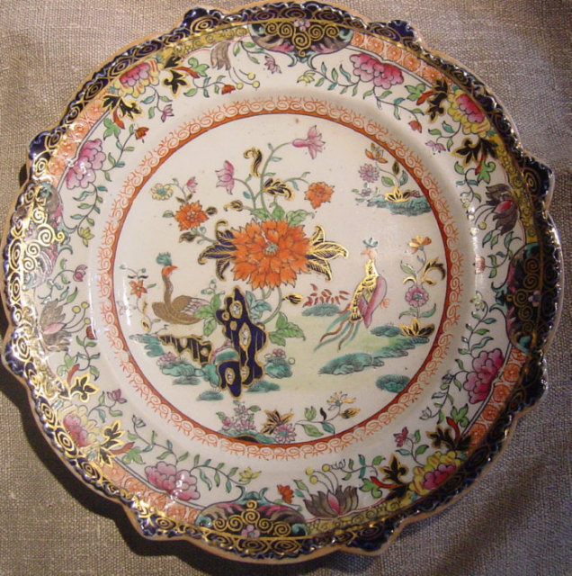 Six Early Mason's Ironstone Plates